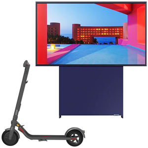 SAMSUNG QLED The Sero 4K LS05T 2020 + NINEBOT KickScooter E22E Powered by Segway - MediaWorld.it
