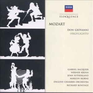 Sutherland/Bacquier/Horne/Bonynge/Englisch Chamber - Mozart: Don Giovanni (Highlights) - CD - MediaWorld.it
