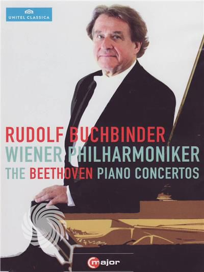 Rudolf Buchbinder, Wiener Philharmoniker - Rudolf Buchbinder - The Beethoven piano concertos - DVD - thumb - MediaWorld.it