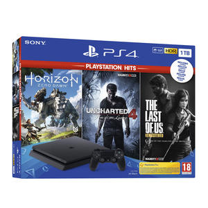 SONY PS4 1TB + Horizon Zero Dawn + Uncharted 4: A Thiefs End + The Last of Us - MediaWorld.it