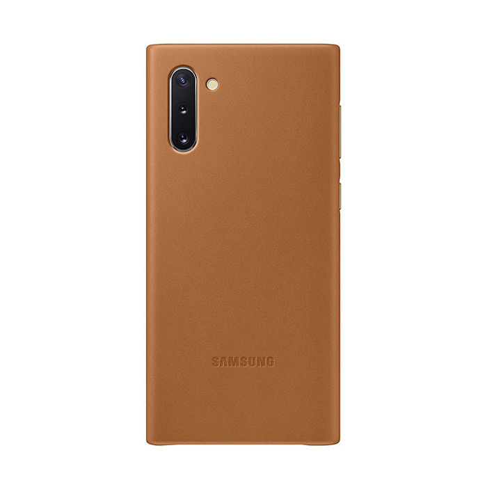 SAMSUNG Cover Pelle Galaxy Note10 Camel - thumb - MediaWorld.it
