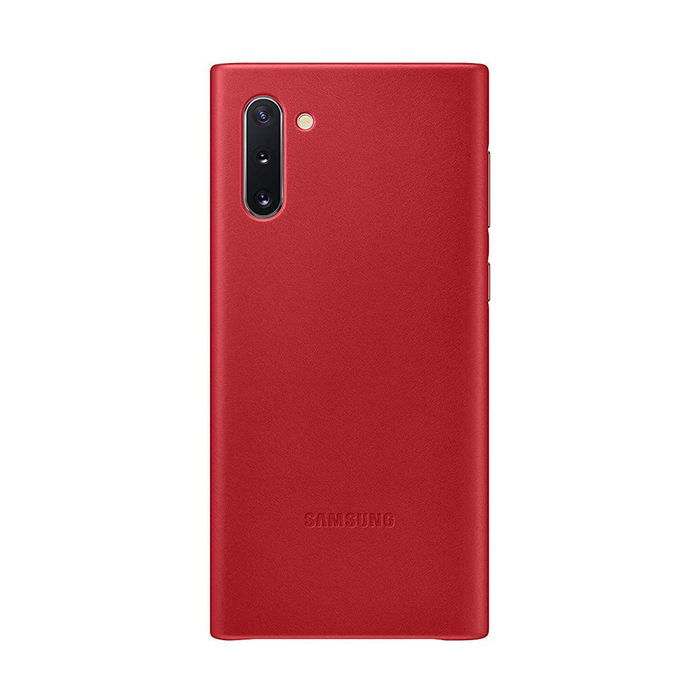 SAMSUNG Cover Pelle Galaxy Note10 Red - thumb - MediaWorld.it