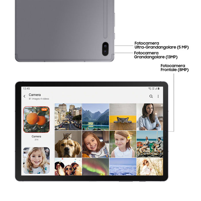 SAMSUNG Tab S6 Lte Grey128 GB - thumb - MediaWorld.it