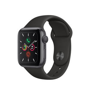 APPLE Watch Series 5 GPS 44mm in alluminio grigio siderale - Sport Nero - thumb - MediaWorld.it