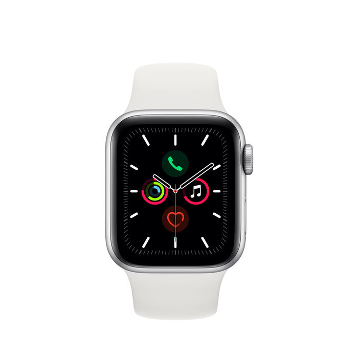 APPLE Watch Series 5 GPS+Cellular 44mm in alluminio color argento - Sport Bianco - thumb - MediaWorld.it