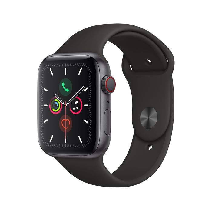 APPLE Watch Series 5 GPS+Cellular 44mm in alluminio grigio siderale - Sport Nero - thumb - MediaWorld.it