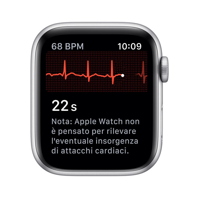 APPLE Watch Nike Series 5 GPS+Cellular 40mm in alluminio color argento  - Nike Sport Platino/Nero - thumb - MediaWorld.it