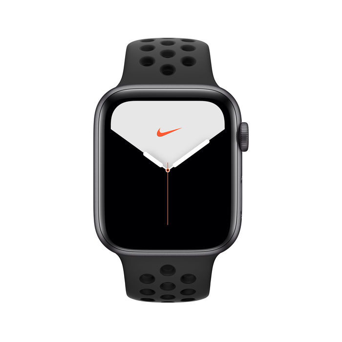 APPLE Watch Nike Series 5 GPS+Cellular 40mm in alluminio grigio siderale - Nike Sport Nero - thumb - MediaWorld.it