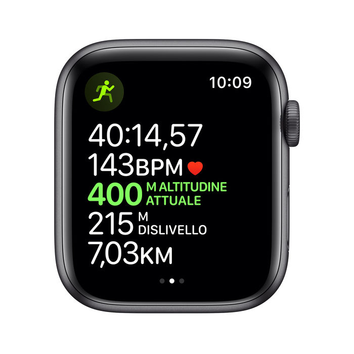 APPLE Watch Nike Series 5 GPS+Cellular 44mm in alluminio grigio siderale - Nike Sport Nero - thumb - MediaWorld.it