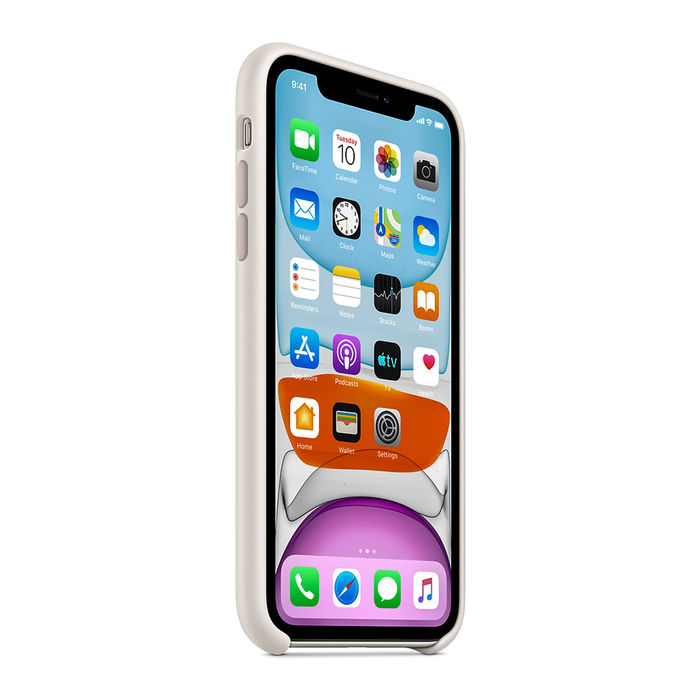 APPLE Custodia in silicone per iPhone 11 - Bianco - thumb - MediaWorld.it
