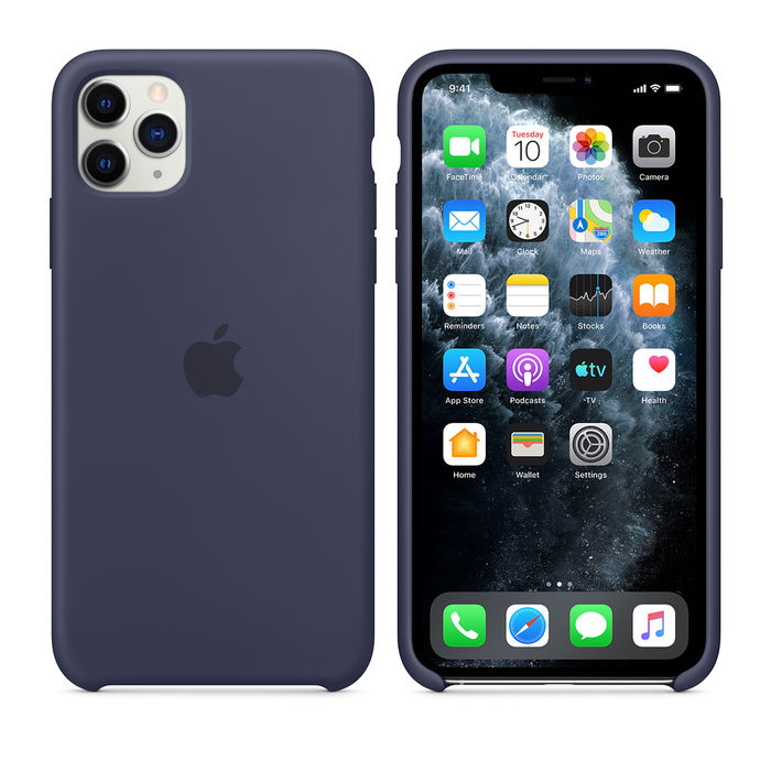 APPLE Custodia in silicone per iPhone 11 Pro Max - Blu notte - thumb - MediaWorld.it