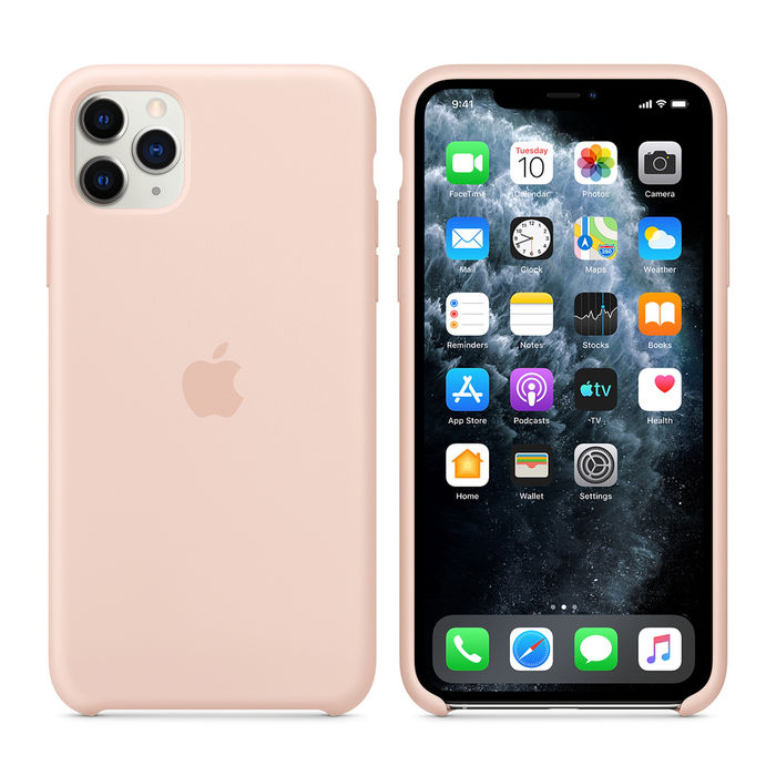 APPLE Custodia in silicone per iPhone 11 Pro Max - Rosa sabbia - thumb - MediaWorld.it