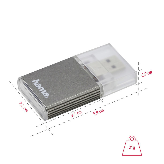 HAMA Hama lettore di memorie SD, USB 3.0 UHS II, antracite - thumb - MediaWorld.it
