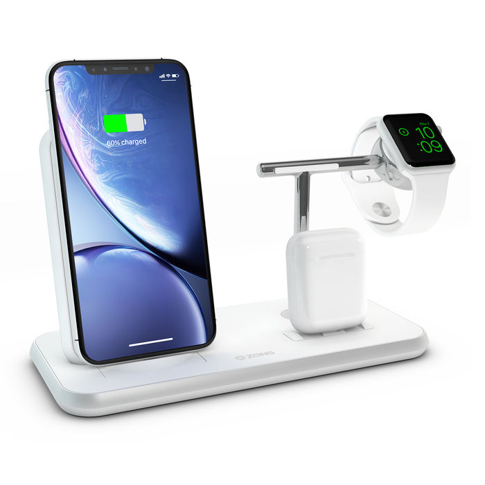 ZENS SUPPORTO RICARICA WIRELESS QI + DOCK+WATCH - thumb - MediaWorld.it