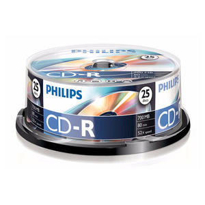 PHILIPS CD-R 80Min 700MB 52x spindle (25pzz) - thumb - MediaWorld.it