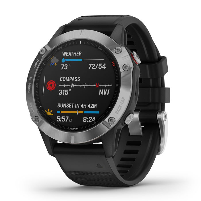 GARMIN Fenix 6S Lunetta Silver con Black band 42mm - thumb - MediaWorld.it