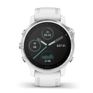 GARMIN Fenix 6S Lunetta Silver, cassa White con White band 42mm - thumb - MediaWorld.it