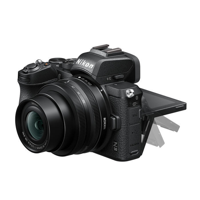 NIKON Z50 + Z DX 16-50VR + LEXAR SD 64GB BLACK - thumb - MediaWorld.it