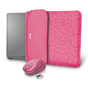TRUST YVO MOUSE & SLEEVE F/15.6 - PINK - MediaWorld.it