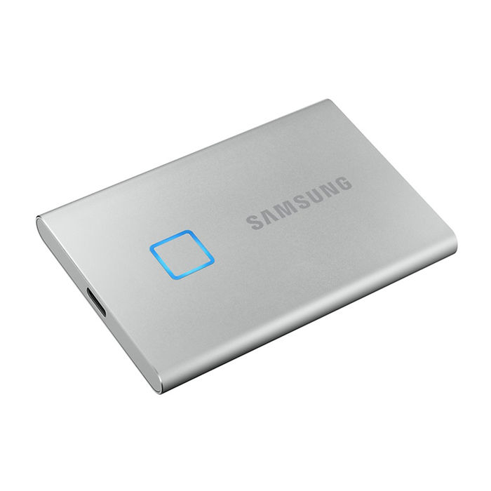 SAMSUNG SSD PORTATILE T7 TOUCH 2TB SILVER - thumb - MediaWorld.it