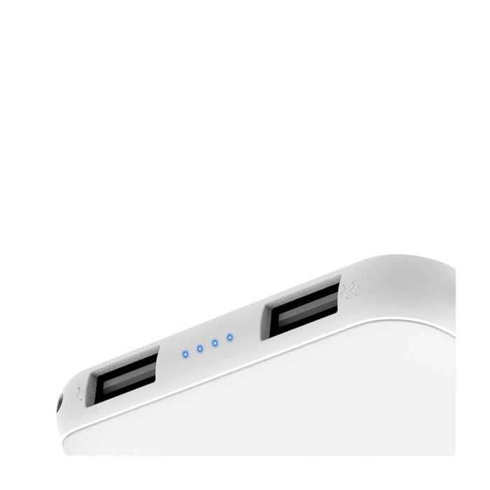 ISY Power Bank 5.000 - 2 Usb Ports - White - thumb - MediaWorld.it