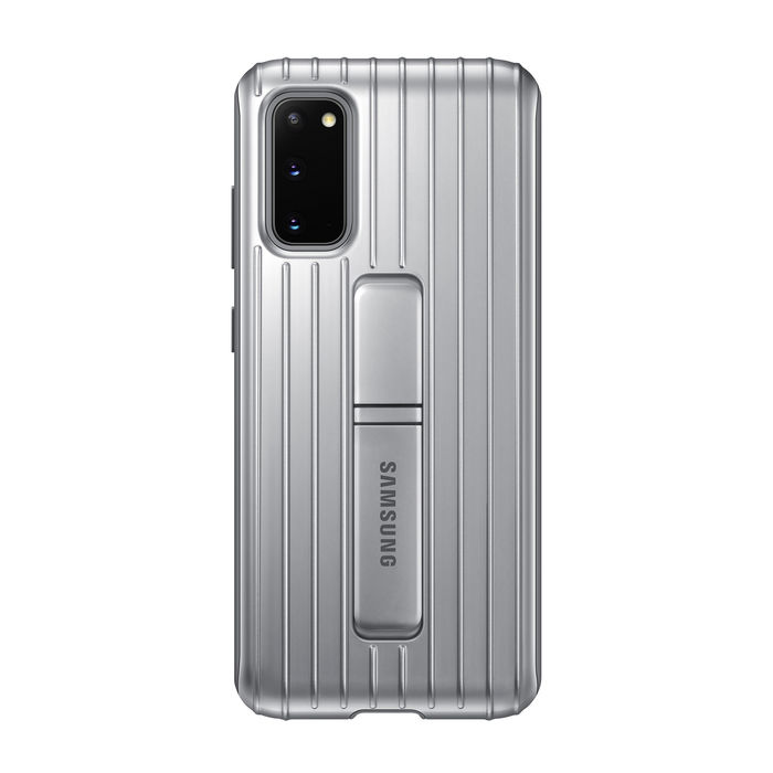 SAMSUNG Protective Standing Cover S20 Silver - thumb - MediaWorld.it