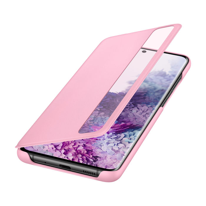 SAMSUNG Cover Clear View Galaxy S20+ Pink - thumb - MediaWorld.it