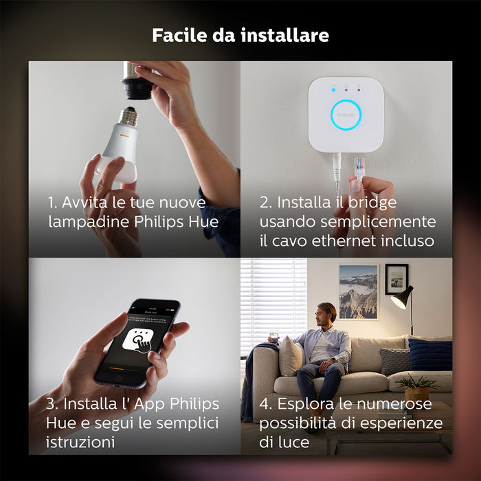 PHILIPS Hue White Starter Kit - thumb - MediaWorld.it