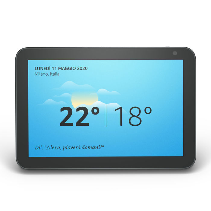 AMAZON Echo Show 8 Black - thumb - MediaWorld.it