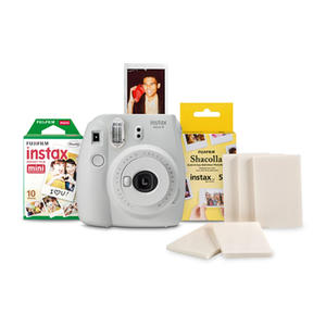 FUJIFILM Mini 9 White + 10 scatti + una confezione di shacolla 5 stikers - MediaWorld.it