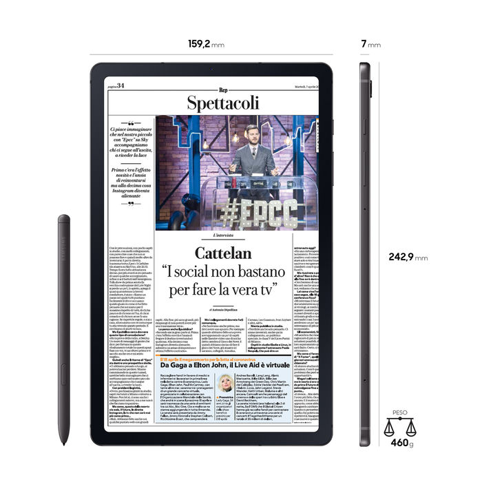 SAMSUNG GALAXY TAB S6 LITE WIFI - thumb - MediaWorld.it