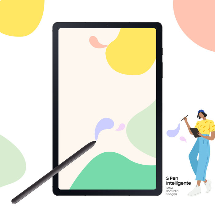 SAMSUNG Galaxy Tab S6 Lite LTE Grey - thumb - MediaWorld.it