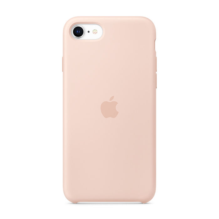 APPLE Custodia in silicone per iPhone SE - Rosa sabbia - thumb - MediaWorld.it