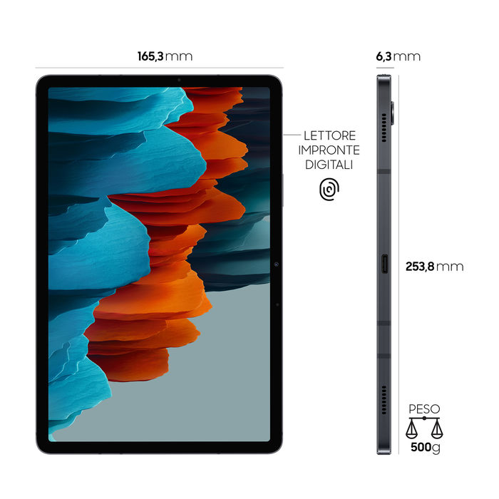 SAMSUNG Galaxy Tab S7 WIFI Mystic Black - thumb - MediaWorld.it