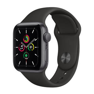 APPLE Watch SE GPS 40mm in alluminio grigio siderale - Sport Nero - thumb - MediaWorld.it