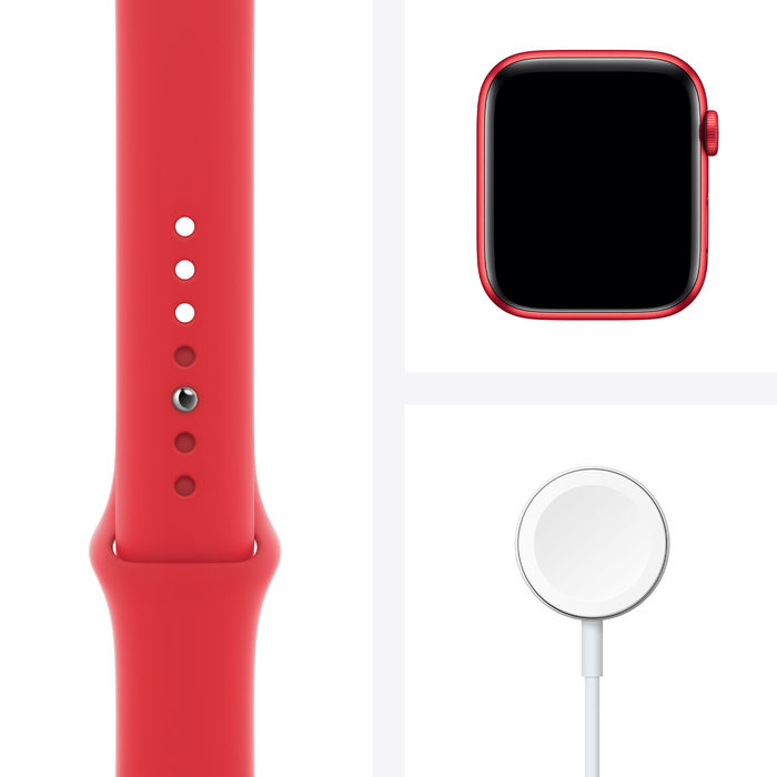 APPLE Watch Series 6 GPS 44mm in alluminio PRODUCT(RED) - Sport PRODUCT(RED) - thumb - MediaWorld.it