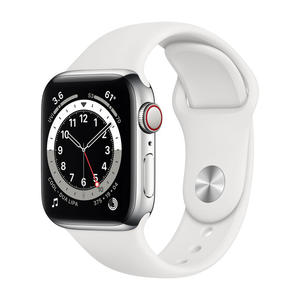 APPLE Watch Series 6 GPS+Cellular 40mm in acciaio - Sport Bianco - MediaWorld.it
