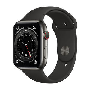 APPLE Watch Series 6 GPS+Cellular 44mm in acciaio grafite - Sport Nero - MediaWorld.it