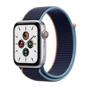 APPLE Watch SE GPS+Cellular 44mm in alluminio argento - Sport loop Blu atlantico - MediaWorld.it