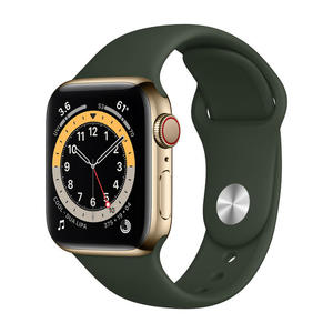 APPLE Watch Series 6 GPS+Cellular 40mm in acciaio oro - Sport Verde inverness - MediaWorld.it