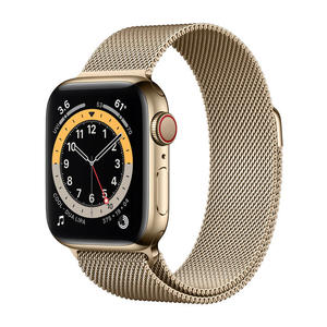 APPLE Watch Series 6 GPS+Cellular 40mm in acciaio oro - Loop Maglia Milanese - thumb - MediaWorld.it