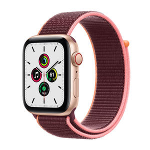 APPLE Watch SE GPS+Cellular 44mm in alluminio oro - Sport loop Prugna - MediaWorld.it