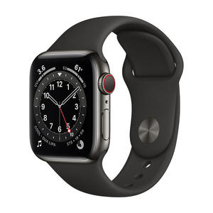 APPLE Watch Series 6 GPS+Cellular 40mm in acciaio grafite - Sport Nero - MediaWorld.it