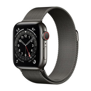 APPLE Watch Series 6 GPS+Cellular 40mm in acciaio grafite - Loop Maglia Milanese - MediaWorld.it