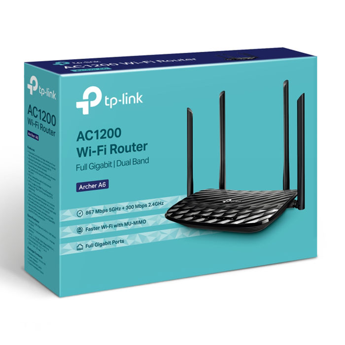 TP-LINK ARCHER A6 ROUTER AC1200 - thumb - MediaWorld.it