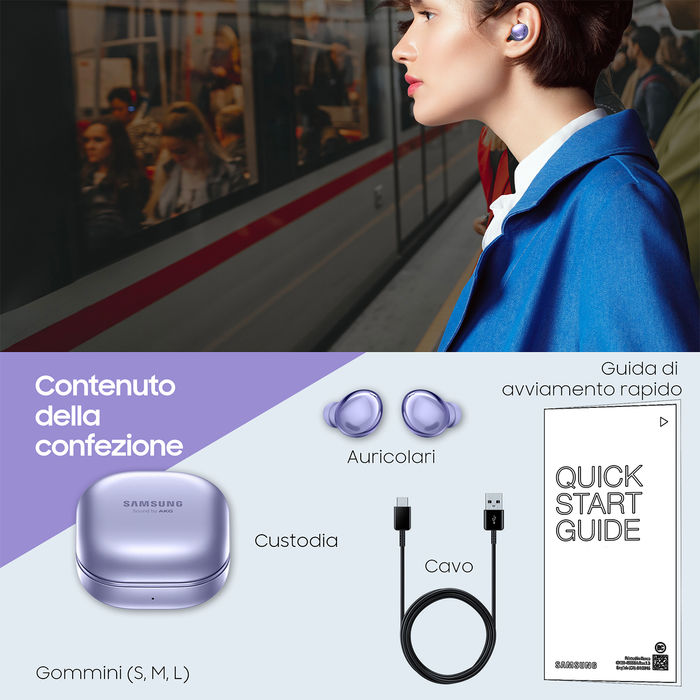 SAMSUNG GALAXY BUDS PRO Phantom Violet - thumb - MediaWorld.it