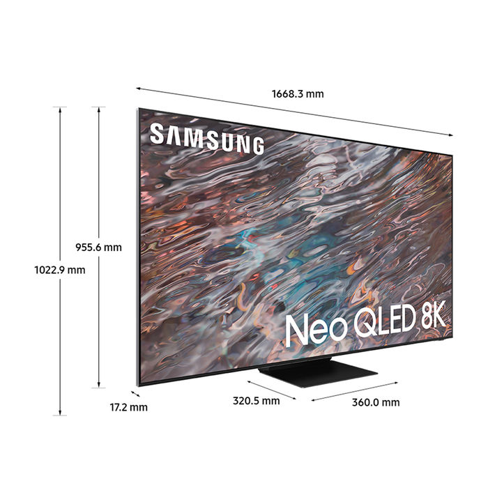 SAMSUNG Neo QLED 8K QE75QN800A Stainless Steel 2021 - thumb - MediaWorld.it