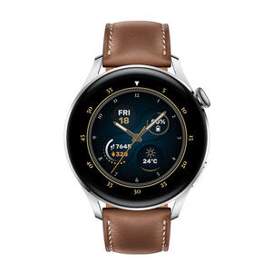 HUAWEI Watch 3 Classic 46mm Brown Leather Strap - MediaWorld.it
