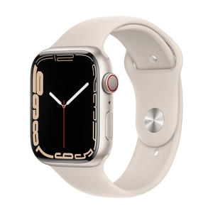 APPLE Watch Series 7 GPS+Cellular 45mm in acciaio argento - Sport galassia - thumb - MediaWorld.it