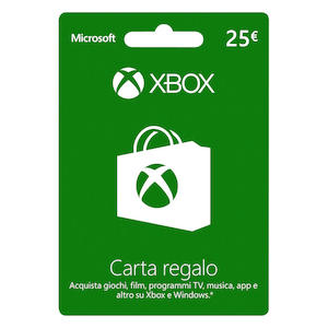 Gift Cards 25 euro Store: Xbox Windows Phone XBOX LIVE GIFT CARD 25€ su Mediaworld.it